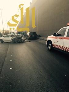 """وفاة و""""6″ إصابات بحادث مروري على مخرج 18 شرق الرياض"""