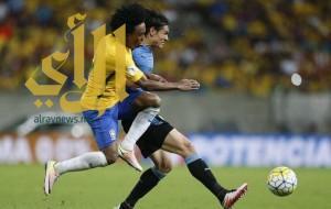 تعادل إيجابي بين البرازيل وأوروجواي في تصفيات كأس العالم 2018