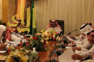 وكيل إمارة الباحة يرأس إجتماع لجنة التنسيق والمتابعة بمحافظة غامد الزناد