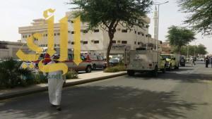 خمس حالات إختناق بحريق شقة سكنية ببريدة