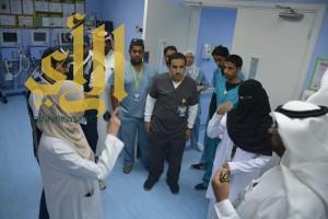 مستشار الوزير للإدارة ومدير عام الشئون المالية يزور مستشفى ظهران الجنوب