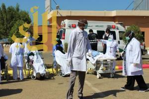 مستشفى البرك ينفذ فرضيه حريق وهمي