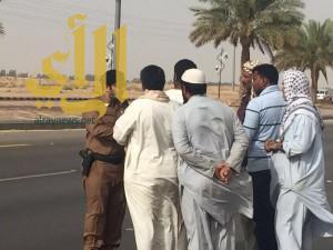 إيقاف مرور الشاحنات في أوقات الذروة الصباحية بوادي الدواسر