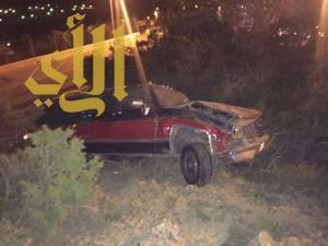 """""""7"""" إصابات بحوادث مرورية بمنطقة الباحة"""