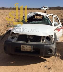 وفاة وأربع إصابات خطيرة بحادث إنقلاب على طريق كرى بمنطقة الباحة