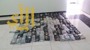 حرس الحدود بقطاع القحمة يقبض على 3 مهربين لكمية من الحشيش المخدر
