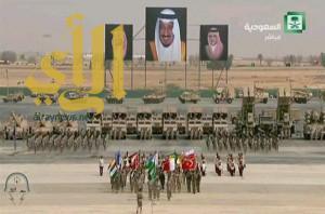 التلفزيون السعودي يتميز بنقل رعد الشمال والاستعراض العسكري