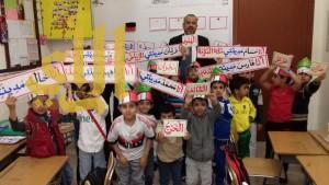 مساعد مدير مكتب العزيزية يحضر درساً نموذجياً مدرسة أبناء الأمة الأهلية