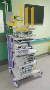 تشغيل جهاز جراحة المناظير بمستشفى محايل العام