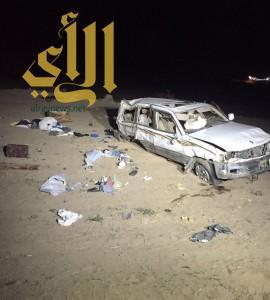 خمس وفيات وسبع اصابات بحادثين بمنطقة عسير
