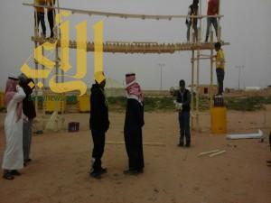براعة الكشاف السعودي في التعامل مع الحبال والاخشاب تظهر في روضة نورة