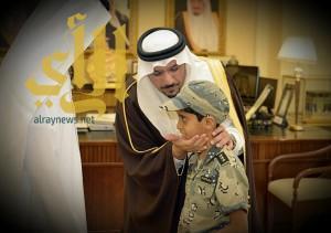 أمير القصيم يستقبل ذوي الشهيد الرقيب بدر الرشيدي