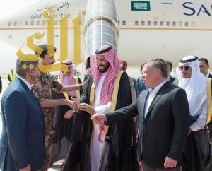ولي ولي العهد وملك الأردن يؤكدان رفض سياسة تدخل إيران في المنطقة