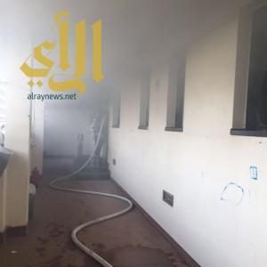 إحتراق إحدى غرف شقق العوائل في سكن العاملين بمستشفى المجاردة