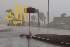 أمطار رعدية مصحوبة بنشاط في الرياح السطحية على المملكة