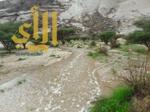 استمرار الحالة المطرية على معظم مناطق المملكة