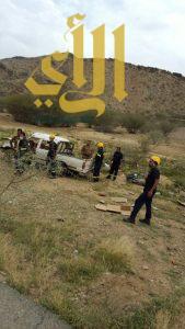 وفاة غريق بسد الجنابين و 14 حادث مروري تُصيب 20 شخصاً في الباحة