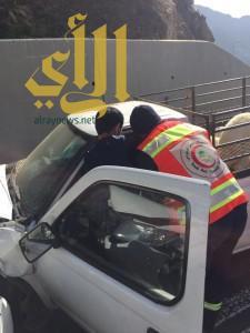 9 حوادث مرورية تُصيب 21 شخصاً اليوم بالباحة