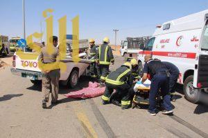 وفاة شاب واصابة آخر بعد ان ارتطمت مركبتهما بخلف شاحنة في سكاكا