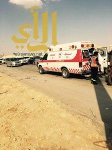 ثلاث وفيات وإصابتين بحادث مروري على طريق الخرج الرياض