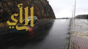 أمطار عسير تسبب إنهيارات جبلية والدفاع المدني ينبه المواطنين من سيول منقولة