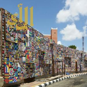 7 آلاف قطعة فنية تشكل جدارية بينالي عسير الدولي