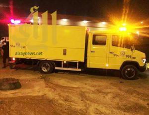 مدني خميس مشيط يباشر حادثة تسرب غاز الكلور بمحطة معالجة الصرف الصحي