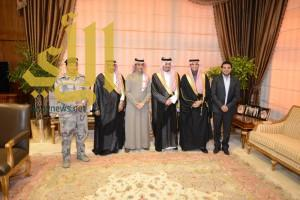 أمير عسير يستقبل  الأمير الدكتور عبدالرحمن بن أحمد بن عبدالعزيز