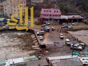 اغلاق أكثر من 50 محلاً تقع في مجرى السيل بمحافظة الداير