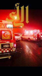 ثلاثة وفيات وإصابة حرجة بحادث مروري لعائلة على طريق الحوطة الجديد