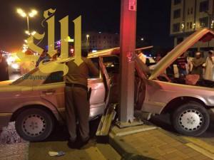 إصابة شخص نتيجة حادث سير على طريق أبو بكر بالدمام