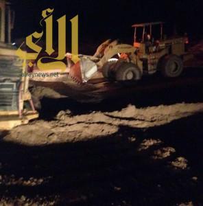 بلدية طريب تشارك في عمليات طوارئ الأمطار والسيول بالمضة