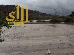 فيضان سد جوف آل شواط والدفاع المدني يحذر