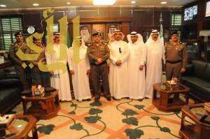 مدير شرطة الجوف يستقبل رئيس وأعضاء الغرفة التجارية