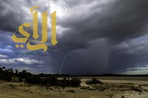 الأرصاد :أمطار رعدية ورياح سطحية على أجزاء من المملكة
