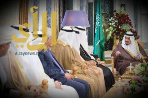 خادم الحرمين يستقبل وزير التعليم ووزراء التعليم العالي الخليجيين