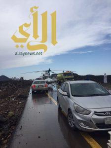إصابات خطيرة لثلاثة أشخاص بحادث مروري على طريق المدينة المنورة – المهد