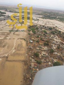 الدفاع المدني يخلي قرية الملحاء بصبيا