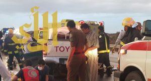 وفاة عائلة بحادث مروري على طريق بيشة خميس مشيط