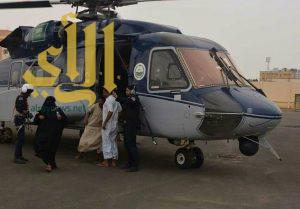 """طيران الأمن ينقذ محتجزين في قرية """"الوجه الحسن"""" بصبيا"""