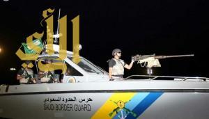 حرس الحدود بمكة يوقف دخول عدد من المتسللين عبر البحر