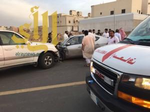 7 إصابات بحادث مروري في حي لبن بالرياض