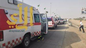 4 إصابات متفاوتة بحادث مروري على طريق خالد بن الوليد بالرياض