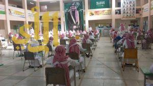 قيادات التعليم في الليث واضم يقفون على سير الاختبارات داخل القاعات في المدارس