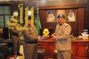 مدير شرطة منطقة الجوف يستقبل قائد قاعدة الجوف الجوية بالقطاع الشمالي