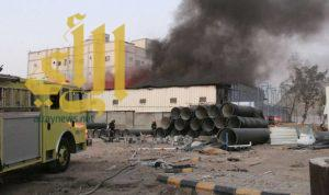 مدني العاصمة المقدسة يسيطر على حريق في فناء مسور بحي الرصيفة