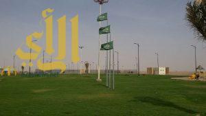 بلدية الذيبية تستكمل المرحلة الثانية لحديقة الياسمين