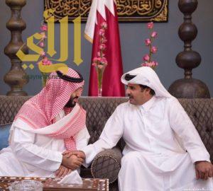 ولي ولي العهد وأمير قطر يبحثان في الدوحة العلاقات الأخوية