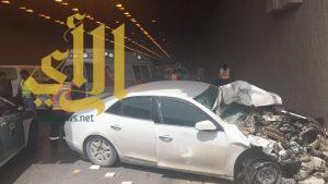 6 إصابات متفاوتة بحادث مروري على مخرج 11