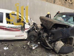 توقف بالقلب وخمس إصابات في حادث سير بعقبة الملك فهد بالمخواة